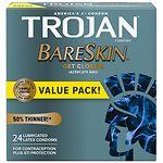 Trojan BareSkin Sensitivity Premium Lubricant Latex Condoms- 24 ea