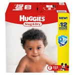 Huggies Snug & Dry Diapers, Economy Plus Pack, Step 3, 16-28 lbs, 222 ea