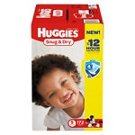 Huggies Snug & Dry Diapers, Economy Plus Pack, Step 5, Over 27 lbs, 172 ea