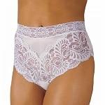 Wearever Women's Lovely Lace Trim Panty, Medium, White- 1 ea