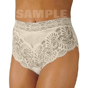 Wearever Women's Lovely Lace Trim Panty, Medium, Ivory- 1 ea