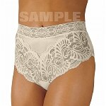 Wearever Women's Lovely Lace Trim Panty, Large, Ivory- 1 ea
