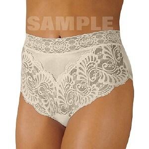 Wearever Women's Lovely Lace Trim Panty, XL, Ivory