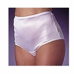Wearever Women's Nylon and Lace Incontinence Panty, Medium, White