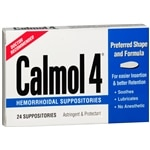 Calmol Hemorrhoidal Suppositories- 24 Each