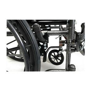 Everest & Jennings Advantage Desk Wheelchair, Elevating Legrest, Black, 20 x 16