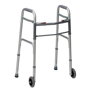 Mabis Healthcare Two-Button Release Aluminum Folding Walker