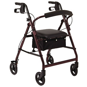 Medline Basic Rollator, Red