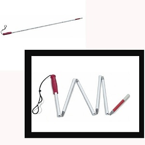 Mabis Healthcare Folding Cane for Visually Impaired,  1 Each