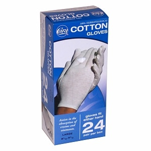 Cara Cotton Glove Dispenser Box, Large, 24 ea