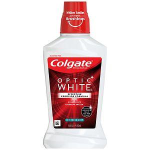 Colgate Optic White Mouthwash, Refreshing Mint- 16 fl oz