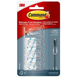 Command Medium Cord Organizer Clips- 4 ea
