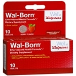 Walgreens Wal-Born Effervescent Health Formula Dietary Supplement Tablets, Berry- 10 Each