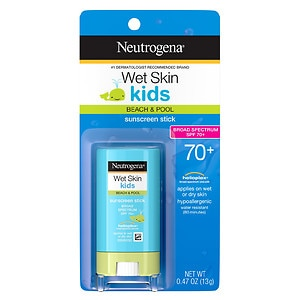 Neutrogena Wet Skin Kids Sunscreen Stick, SPF 70- .47 oz