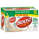 Boost High Protein Complete Nutritional Drink, Very Vanilla, 8 oz Bottles, 12 pk- 8 oz