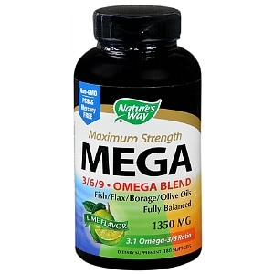 Nature's Way Mega 3/6/9 Omega Blend 1350 mg Dietary Supplement Softgels- 180 ea