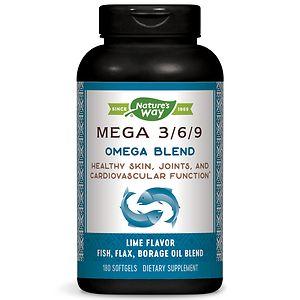 Nature's Way Mega 3/6/9 Omega Blend 1350 mg Dietary Supplement Softgels, 180 ea