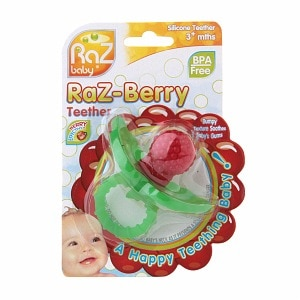 Raz Baby Raz-Berry Silicone Teether for 3+ Months