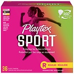 Playtex Sport Tampons, Unscented, Regular, 36 ea- 1 pack
