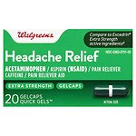 Walgreens Extra Strength Headache Relief Quick Gels- 20 ea