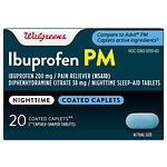 Walgreens Ibuprofen PM Coated Caplets- 20 Each