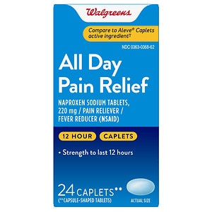 Walgreens All Day Pain Relief Caplets- 24 ea