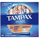 Tampax Pearl Tampons with Plastic Applicators, Fresh Scent- 36 ea