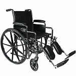 Everest & Jennings Travelers SE Steel Wheelchair with Removable