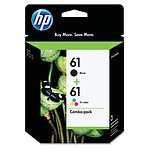 HP Ink Cartridges 61, Black & Tri-Color- 1 Each