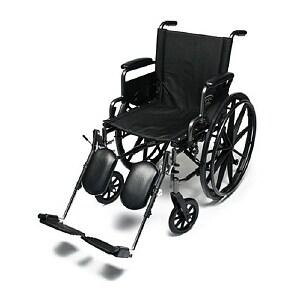 Everest & Jennings Traveler Lightweight Wheelchair with Flip Back Desk Arm & Elevate Leg Rests, 18 x 16