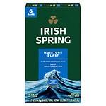 Irish Spring Deodorant Bath Bars Moisture Blast- 6 ea