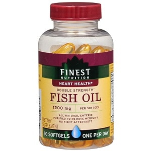 Finest Nutrition Fish Oil 1200 mg Dietary Supplement Softgels- 60 ea