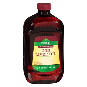 Finest Nutrition Cod Liver Oil Dietary Supplement Liquid- 16 fl oz