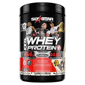 Six Star Whey Protein Plus, Elite Series, Cookies & Cream