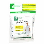 Essential Medical Deluxe Patient Gown, White- 1 ea