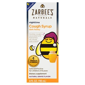 ZarBee's Naturals Children's Nighttime Cough Syrup, Grape