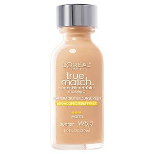 L'Oreal Paris True Match Super-Blendable Liquid Makeup, Sun Tan