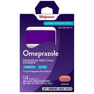 Walgreens Omeprazole Acid Reducer Tablets- 14 Each