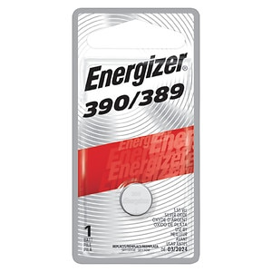Energizer Watch/Electronic Silver Oxide Battery, 389, 1 ea