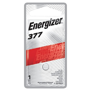Energizer Watch/Electronic Silver Oxide Battery, 377, 1 ea