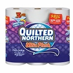Quilted Northern Ultra Plush Bathroom Tissue Unscented 9 Rolls