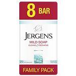 Jergens Family Pack Bar Soap, White, 3.5 oz- 8 ea