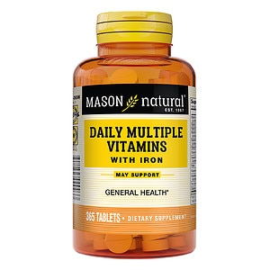 Mason Natural Daily Multiple Vitamins with Iron, Tablets- 365 ea