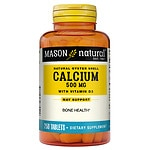Mason Natural Natural Oyster Shell Calcium 500 with D3 400,