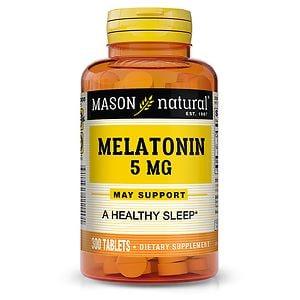 Mason Natural Melatonin 5 mg with Vitamin B-6, Tablets- 300 ea