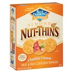 Blue Diamond Nut-Thins Nut & Rice Cracker Snacks, Cheddar