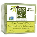 Kiss My Face Olive Oil Bar Soap, Fragrance Free