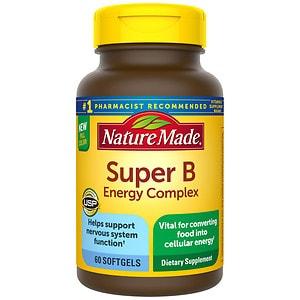 Nature Made Super B Complex Full Strength Mini, Softgels, 60 ea