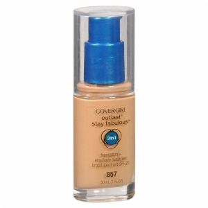 CoverGirl Outlast Stay Fabulous 3-in-1 Foundation + Broad Spectrum SPF 20, Golden Tan 857, 1 fl oz