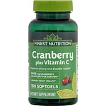 Finest Nutrition Cranberry + Vitamin C, Softgel- 100 ea